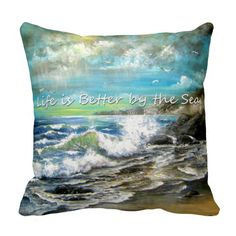 Life is Better by the Sea Throw Pillow