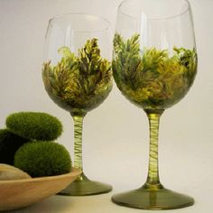 Painted Wine Glasses Ideas | glass painting designs are great Fathers Day ideas. Patriotic glass ...