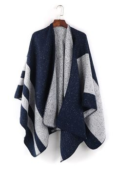 Blue-Gray Blanket Shawl Cover Up
