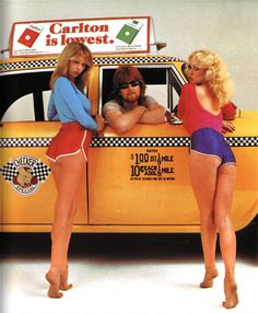 Girls in saucy 70s hotpants.