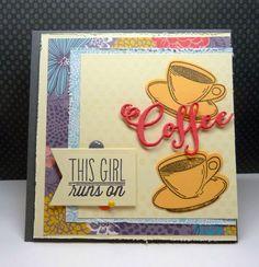 Handmade card byVickie Z using the Coffee set from Verve.  #vervestamps