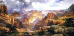 """Cassia has to make a presentation on one of the paintings left. """" number 19."""" """"The one by Thomas Moran"""""""