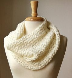 "Infinity scarf / Snood / ""Bridget"" Cowl Knitting Pattern by designer Elena Rosenberg"
