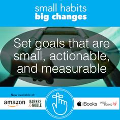 The first step toward achieving your goals is knowing how to properly set goals. Try to choose something small, actionable, and measurable to ensure you make progress. Then achieve it, and set a new and bigger goal. Tiny Steps, Motivational Images, Business Coaching, Achieve Your Goals, Healthier You, Setting Goals, Words Of Encouragement, Anxiety