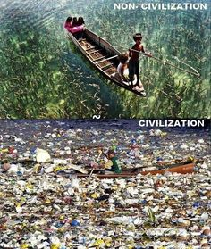 Difference between Civilized and Uncivilized societies..!!   Stop pollution, Save Environment, Save Earth.