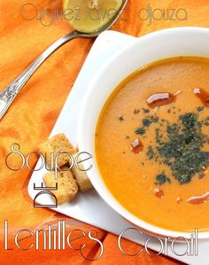 Soupe de lentilles corail recette turque Microwave Recipes, Crockpot Recipes, Cooking Recipes, Veggie Recipes, Soup Recipes, Healthy Recipes, Simply Recipes, Great Recipes, Turkish Recipes