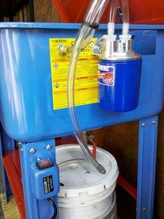 HF 20 Gallon Parts Washer Mods - The Garage Journal Board - Ideas For The House - Garage Workshop Garage Tools, Garage Shop, Garage Workshop, Diy Garage, Garage Ideas, Garage Office, Metal Workshop, Garage Signs, Diy Workshop
