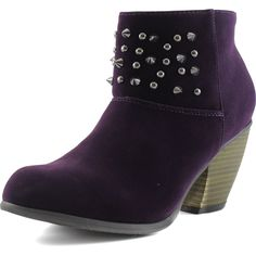 Women's Priority-46 Western Cowboy Spike Ankle Bootie Round Toe Boots ** See this awesome image  : Boots Shoes
