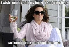 Funny Tina Fey Quote – I wish I could trade my heart for another liver so I could drink more and care less | Look around!