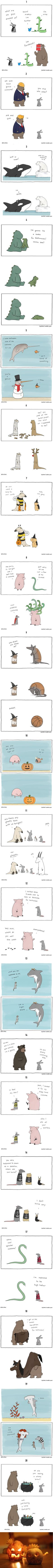 Simpsons Illustrator Elizabeth (Liz) Climo Shows What Would Happen If Animals Celebrated Halloween