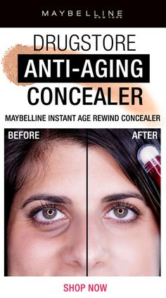 See why the Maybelline Instant Age Rewind Concealer is a fan favorite! This drugstore anti-aging undereye concealer features a micro-corrector applicator to help instantly erase dark circles and fine lines. The eye area appears radiant and refreshed in no time. Click through to shop!