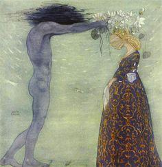 John Bauer - Agneta and The Sea King (Swedish Folktales).