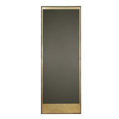"""Gold Leaf Floor mirror - by Notre Monde Gold Leaf Floor mirror - NEW Material: Bronze Mirror - Walnut frame Item #: 20669 Size: 76 x 198 x 4 cm 30"""" x 78"""" x 2"""""""