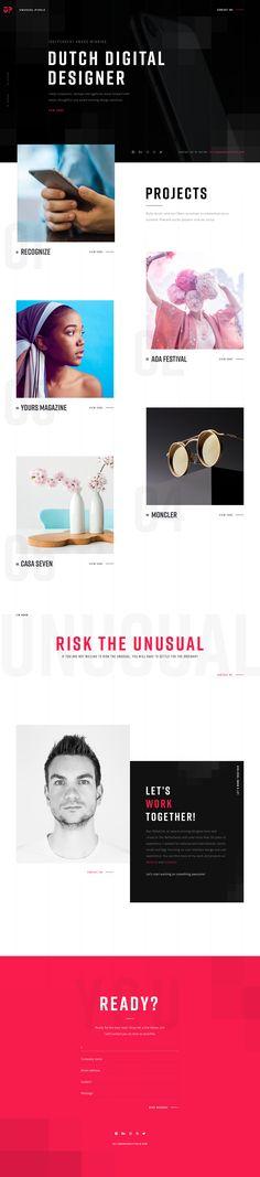 Unusual Pixels – Ui design concept and visual by Bart Ebbekink