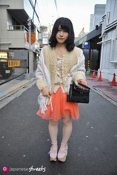 MAIKO Harajuku, Tokyo Kinari SPRING 2012, GIRLS Kjeld Duits STUDENT, 17  Cardigan – K. Ross Blouse – tomatsu Skirt – N/A Shoes – Bodyline