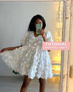 Dress Sewing Tutorials, Short African Dresses, Arabic Dress, Diy Clothes Refashion, Dress Outfits, Fashion Outfits, Asdf, Fashion Sewing, Babydoll Dress