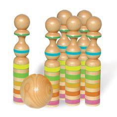 Striped Giant Pin Bowling Set