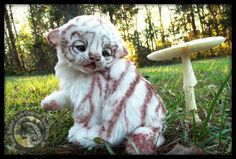SOLD HAND MADE Baby White Tiger! by Wood-Splitter-Lee.deviantart.com on @DeviantArt