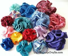 Crochet Hyperbolic Coral - free crochet pattern from Golden Lucy Crafts.
