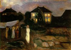 """Munch The Storm 1893, Moma NY,"" Edvard Munch (1863-1944) Norwegian Symbolist painter."