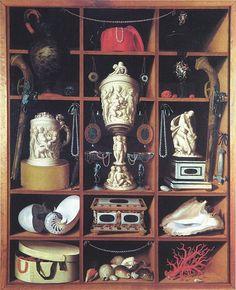 Georg Haintz (auch  Johann Georg Heinz): Kunstschrankstilleben,  c. 1666 Berlin, Kunstgewerbemuseum SMBPK