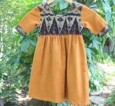 Little Girls Dress In Javanese Ikat Bohemian Style Dress by DekDoi
