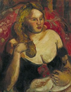 matthew arnold bracy smith(1879–1959), girl in black with red flowers, c.1930. oil on canvas, 73 x 58 cm. city of london corporation. uk http://www.bbc.co.uk/arts/yourpaintings/paintings/girl-in-black-with-red-flowers-51595