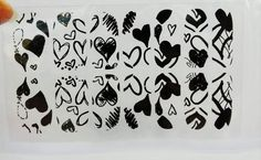Heart Nail Design,Black Nail Wrap,Valentine Nail Decal,Heart Nail Sticker,Anniversary Nail Art,Wedding Nail Design,Love Nail Wrap,Nail Cover