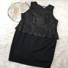 Worthington Women's Plus Size 24W Black Sheath Dress Lace Mother Of The Bride  #WorthingtonIndustries #Sheath #Cocktail