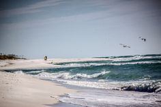 Beach view at Fort Pickens.