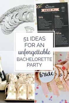 Find ideas, games, party favors, and inspiration for a super fun bachelorette party! | 51 Ideas For An Unforgettable Bachelorette Party | Kennedy Blue