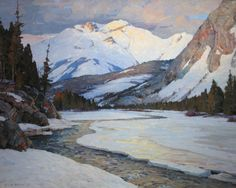 Aldro T. Hibbard (1886-1972) Canadian Rockies, Banff, Alberta, Canada