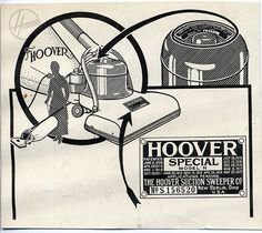 In the early 1900s, this is how you identified a Hoover vacuum.