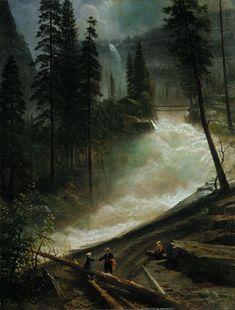 Nevada Falls, Yosemite - Albert Bierstadt