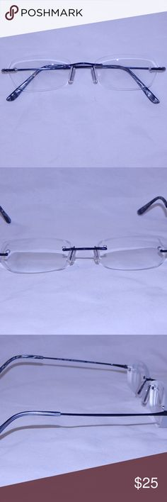 Tommy Bahama Black Walnut Rimless Eyeglass Frames This is a pair of Tommy Bahama Black Walnut eyeglass frames, measurements 49 18 135.  They are rimless, in excellent used condition.  All of my items come from a smoke and fur free home. Tommy Bahama Accessories Glasses