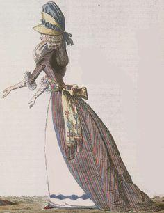 Journal de la Mode et du Gout, March 1790. What an odd little hat! Love the…