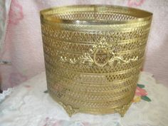 Oval Regency Gold Colored Metal Lace Look by Daysgonebytreasures, $28.00