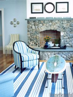 Nature inspired. Designer: Annie Selke. Photo: John Kernick. housebeautiful.com