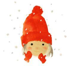 The Girl Wearing a Red Woolen Cap (1972 - 1972) por Chihiro Iwasaki Chihiro Art Museum
