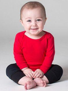 American Apparel - Infant Baby Rib Long Sleeve Lap T-Shirt