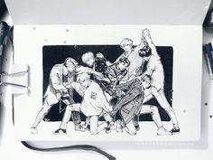 [ ☆ FA ] artist of the year 🎊 for the second year in a row! I'll never forget their first TT (it's been a whole month but I finally finished day 31 🤦😂 I've been crazy busy but I hope you guys are doing well~) Fanart Bts, Kpop Drawings, Fan Art, Bts Chibi, Bts Fans, Art Sketchbook, Bts Wallpaper, Art Inspo, Art Sketches
