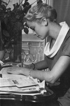 Grace Kelly: Truly One of a Kind • graceandfamily: Grace Kelly in her Cannes Hotel...