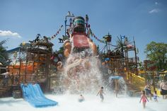 Cool off at one of these epic water parks with lots of fun activities for younger and older kids alike.