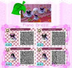 qracnl:  rudebear-crossing:  Today's new dress! I had this design saved in an old game, and found it a long time ago floating around online. I made some modifications to it, but if someone knows the original, feel free to let me know!  QR Codes here! (http://qracnl.tumblr.com)