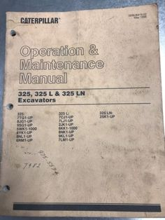 Caterpillar operations manual download file pdf caterpillar cat caterpillar 325 325l 325ln excavator operation maintenance manual fandeluxe Gallery