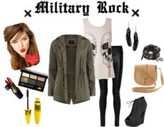 """Military rock"" by reemtaha on Polyvore"