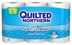 Quilted Northern 96884 Ultra Soft and Strong Toilet Paper, 6 Rolls