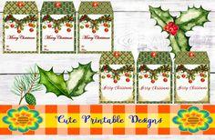 Printable Gift Tag,Christmas Tags, Cute Tags, Christmas, TAGNAVI-BELLA-103 de CutePrintableDesigns en Etsy