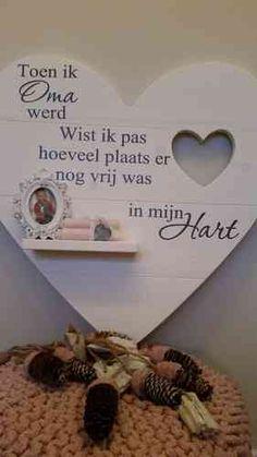 """""""Houten hart, Toen ik oma werd"""" - Kaatje Kado Webshop"""