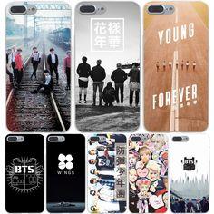 Bts bangtan 소년 하드 투명 커버 case 대한 iphone 7 7 플러스 6 6 초 플러스 5 5 초 se 5c 4 4 초